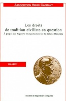 Les droits de tradition civiliste en question, à propos des Rapports Doing Business de la Banque Mondiale, vol. 1