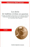 Les droits de tradition civiliste en question, à propos des Rapports Doing Business de la Banque Mondiale, vol. 2